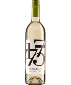 Bench 1775 - 2014 Pinot Gris - VQA - Double Gold Medal / 91 Points!
