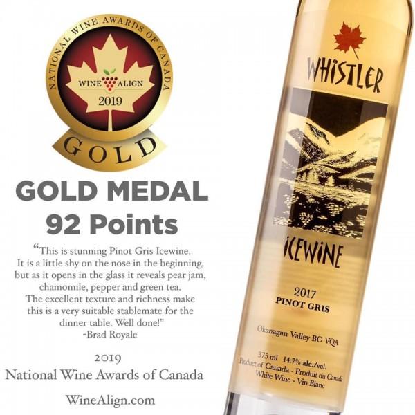 Whistler - 2017 Pinot Gris Icewine (VQA) - GOLD Medal!